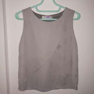 Grey purple blouse