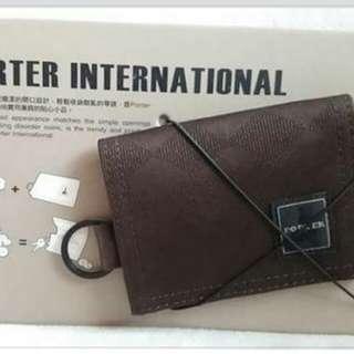 Porter 散紙銀包+鎖匙扣