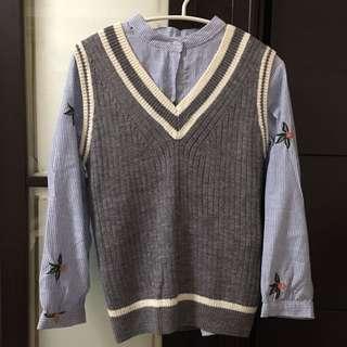 日系毛衣,襯衫