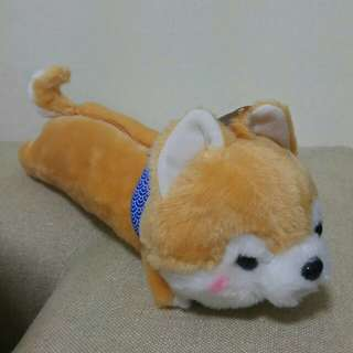 Dog Shaped Plush Animal Pencil Case