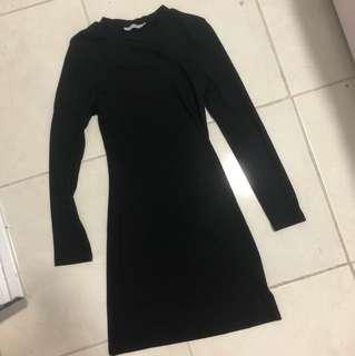 Pare Basics - Universal Store  Black long sleeve round neck dress size 6 xs worn once