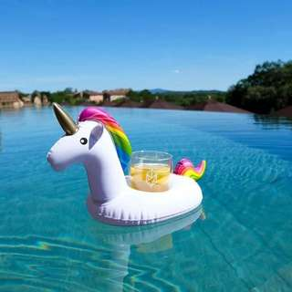 Unicorn float cup phone holder