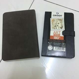 Cachet and canson sketch book set