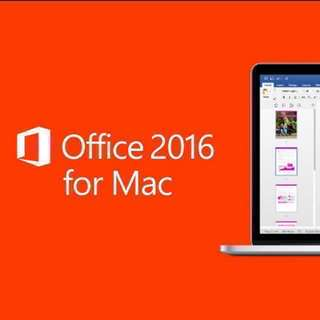 Microsoft MS office 2016 mac