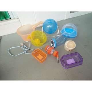 Hamster accessories $3 to $4