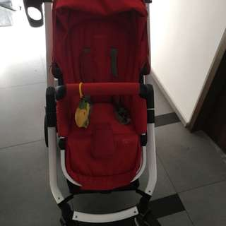 Fedora S7 Stroller - Cherry Red