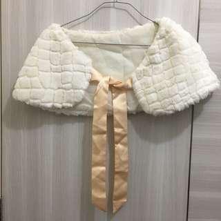 姊妹裙米白色披肩