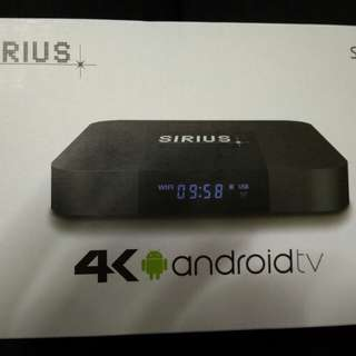 Sirius 4k android box
