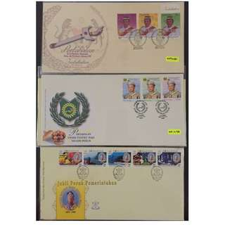 Malaysia 3 FDC - Silver Jubilee of Sultan of Pahang, Installation of Sultan of Perlis and Installation of the 12th YDP Agong