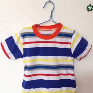 U price baby colorful short Stripe T-shirt