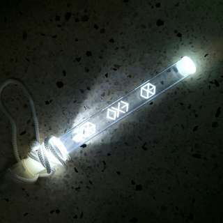 EXO lightstick and badge