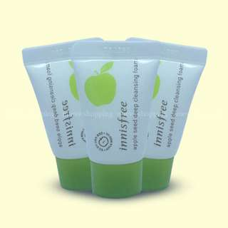 [Bnew] Innisfree Apple Seed Deep Cleansing Foam 10ml Sampler