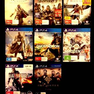 PS4 Games - $15 each - Negotiable
