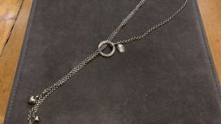 Charriol Silver Lariat Necklace