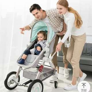 貝麗可雙向嬰兒推車(粉綠色)
