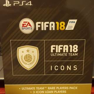 Ps4 FIFA 18 Ultimate Team Icons