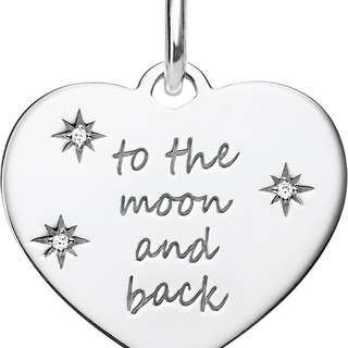 $560 THOMAS SABO  To The Moon And Back sterling silver and zirconia heart pendant 包郵 included local postage Valentine's Day Chinese New Year,birthday,Anniversary gift  情人節新年生日週年禮物