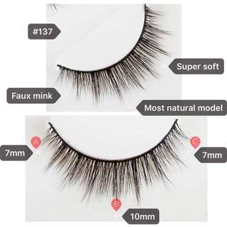 3D Faux Mink Eyelashes (#137 CS)