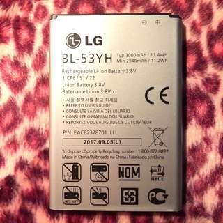 100% new Original LG G3 / G3 Dual BL-53YH BATTERY 原裝全新電池 3000mAh battery