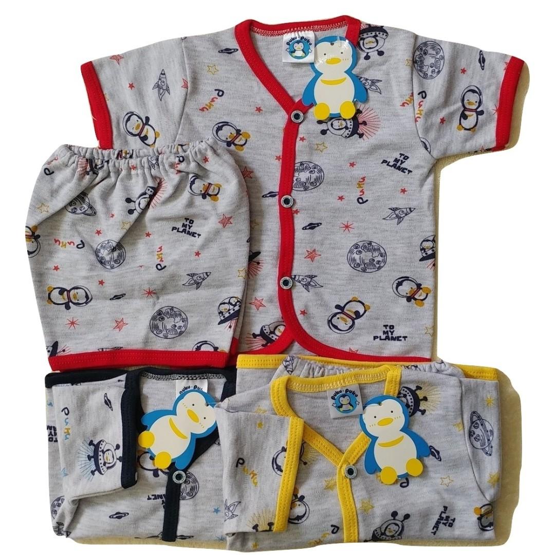3sett Setelan Baju Pendek Bayi PUKU Newborn