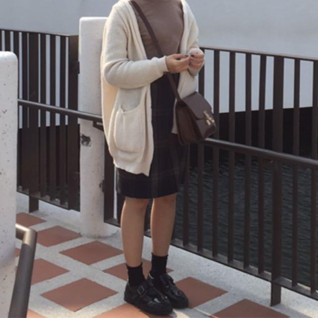 杏色 針織外套