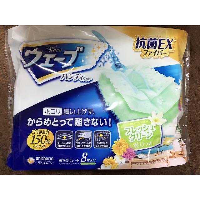 威佛魔撢 除塵紙拖把 跟灰塵說掰掰 香氛魔撢8片補充包 + 一個把手