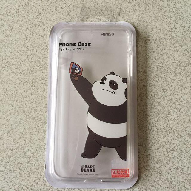 熊熊遇見你 咱們裸熊 胖達手機殼 i7 plus