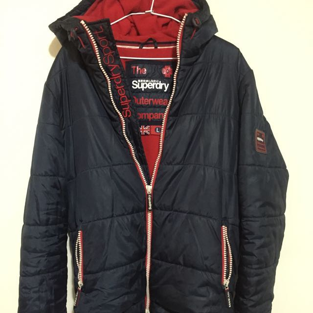 極度乾燥 Superdry sport jacket navy 深藍 內刷毛 L