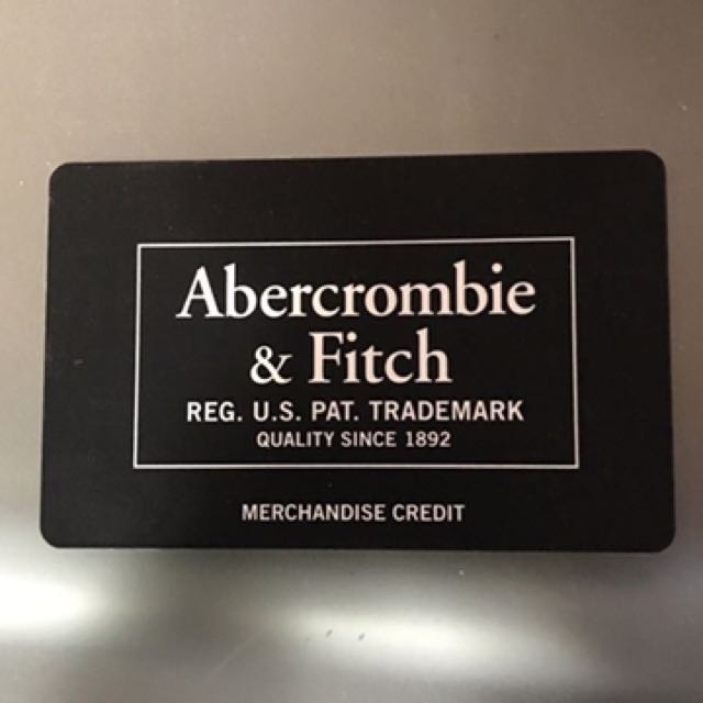 Abercrombie & Fitch gift card - $73.40