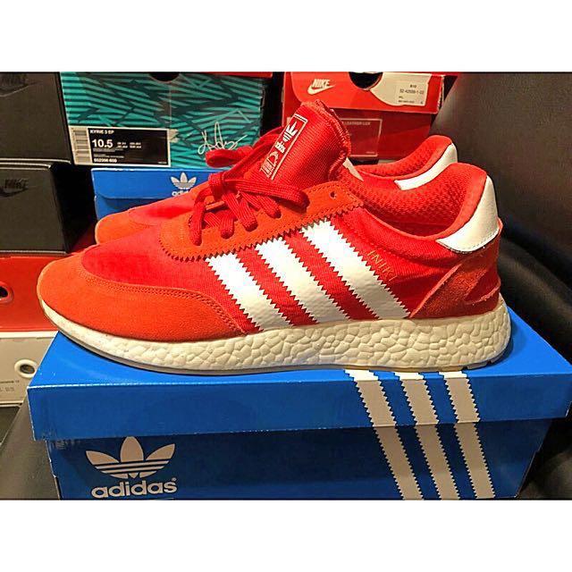 Adidas iniki runner boost 紅色 慢跑休閒鞋