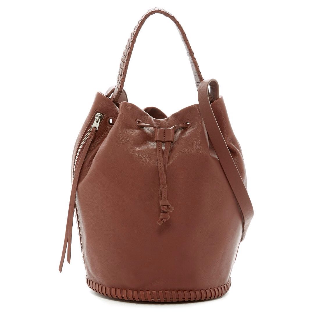 All Saints Club Leather Bucket Bag