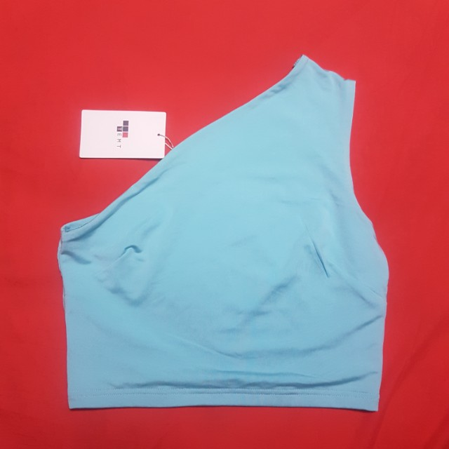Aqua Off Shoulder Crop