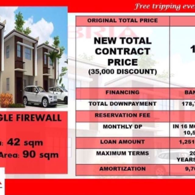 As low as 5k per month house and lot