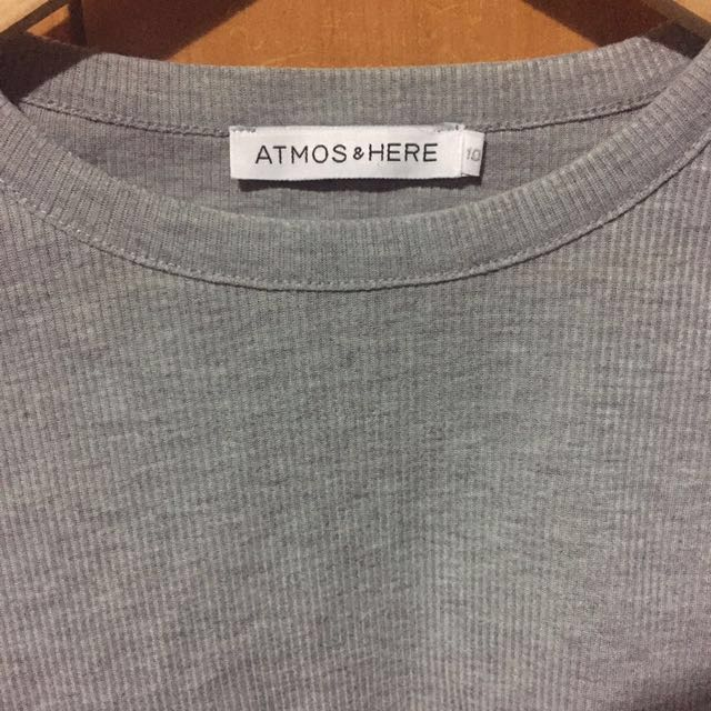 Atmos & Here Ribbed Crop Top