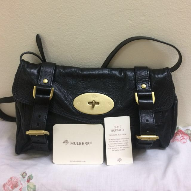 Authentic Mulberry Alexa Small Shoulder Clutch Soft Buffalo Leather Women S Fashion Bags Wallets On Carou