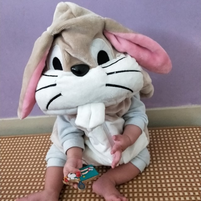 Baby超可愛超厚暖兔兔背心
