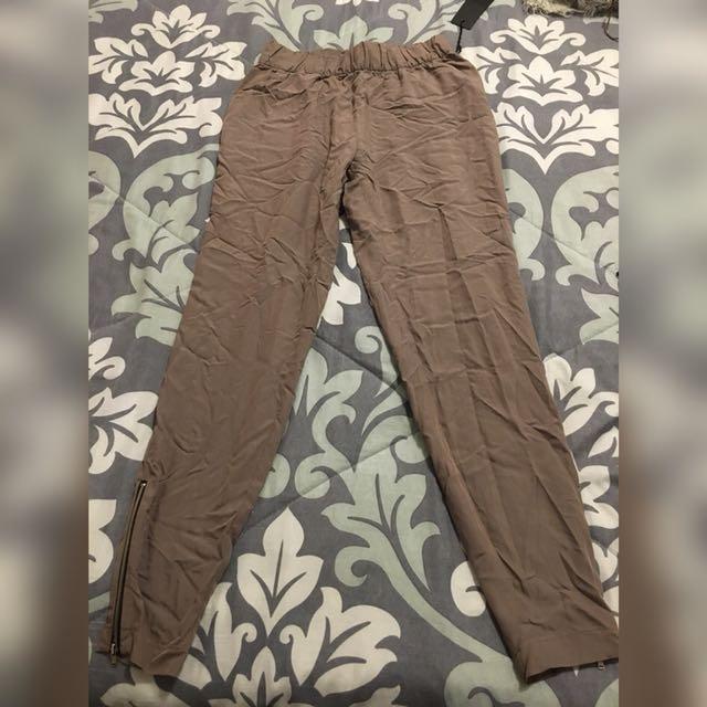 Beige high waisted pants