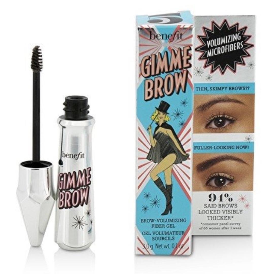 057a7d22cb4 Benefit Gimme Brow Volumizing Eyebrow Gel #Deep (Shade 5), Health & Beauty,  Makeup on Carousell