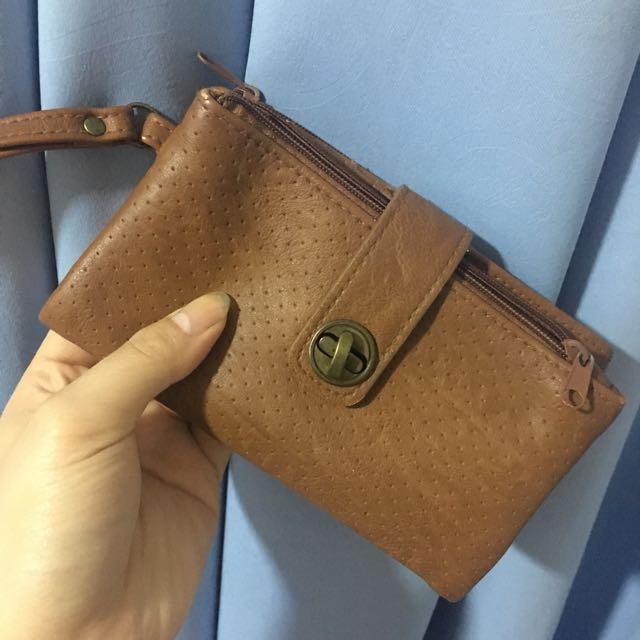 Bershka Leather Brown Wallet