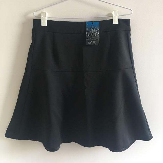 Black A-line Skirt