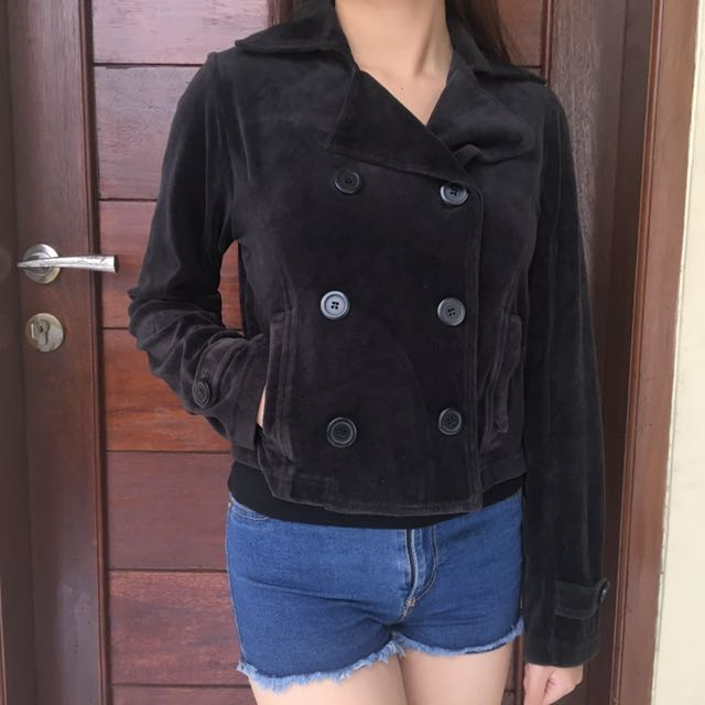 Black bludru Jacket crop