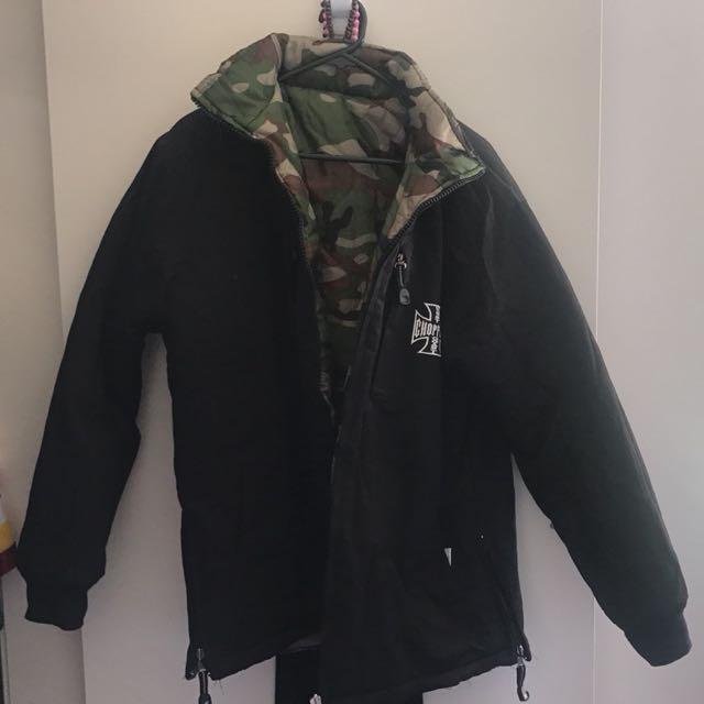Black reversible jacket