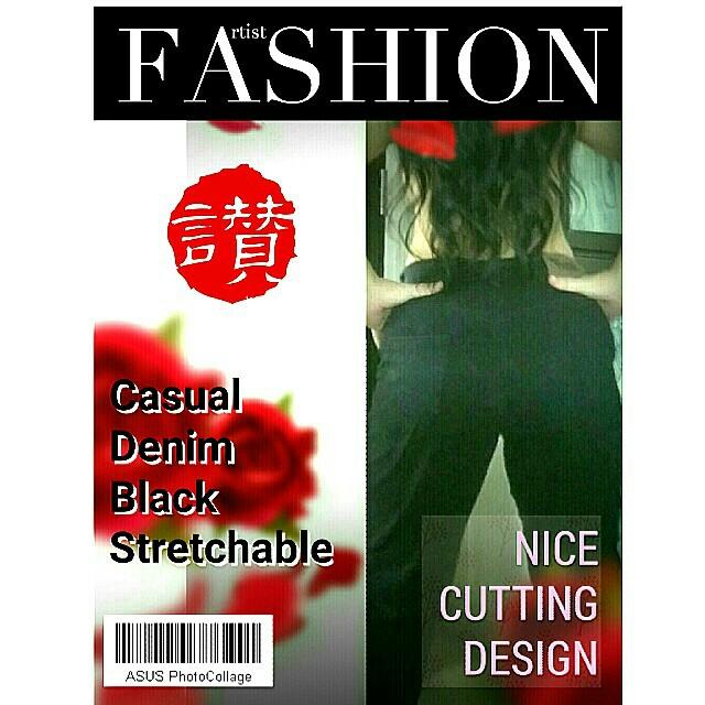 Black Stretchable Pants M size