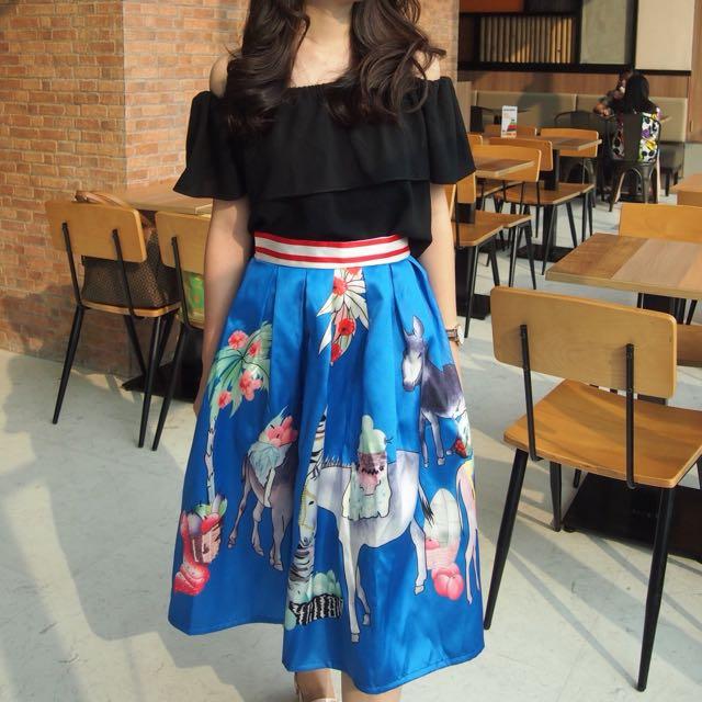 Blue Bunny Skirt