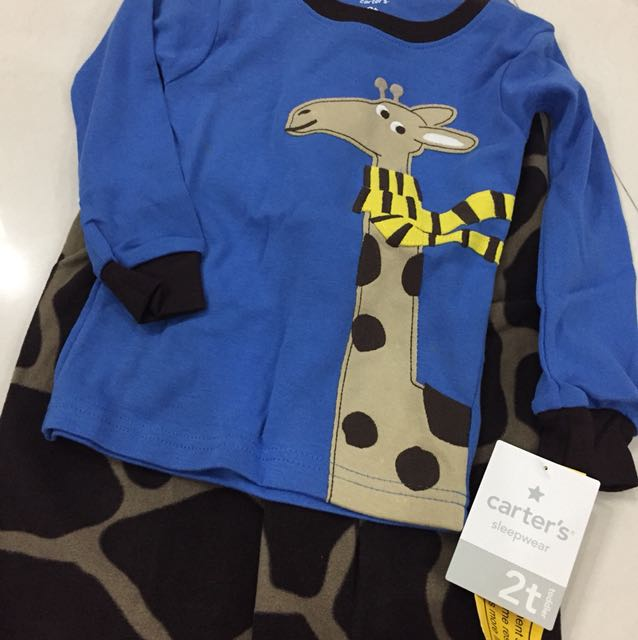 289fab594584 BNWT Carter s Giraffe Toddler Boy pajamas PJ set