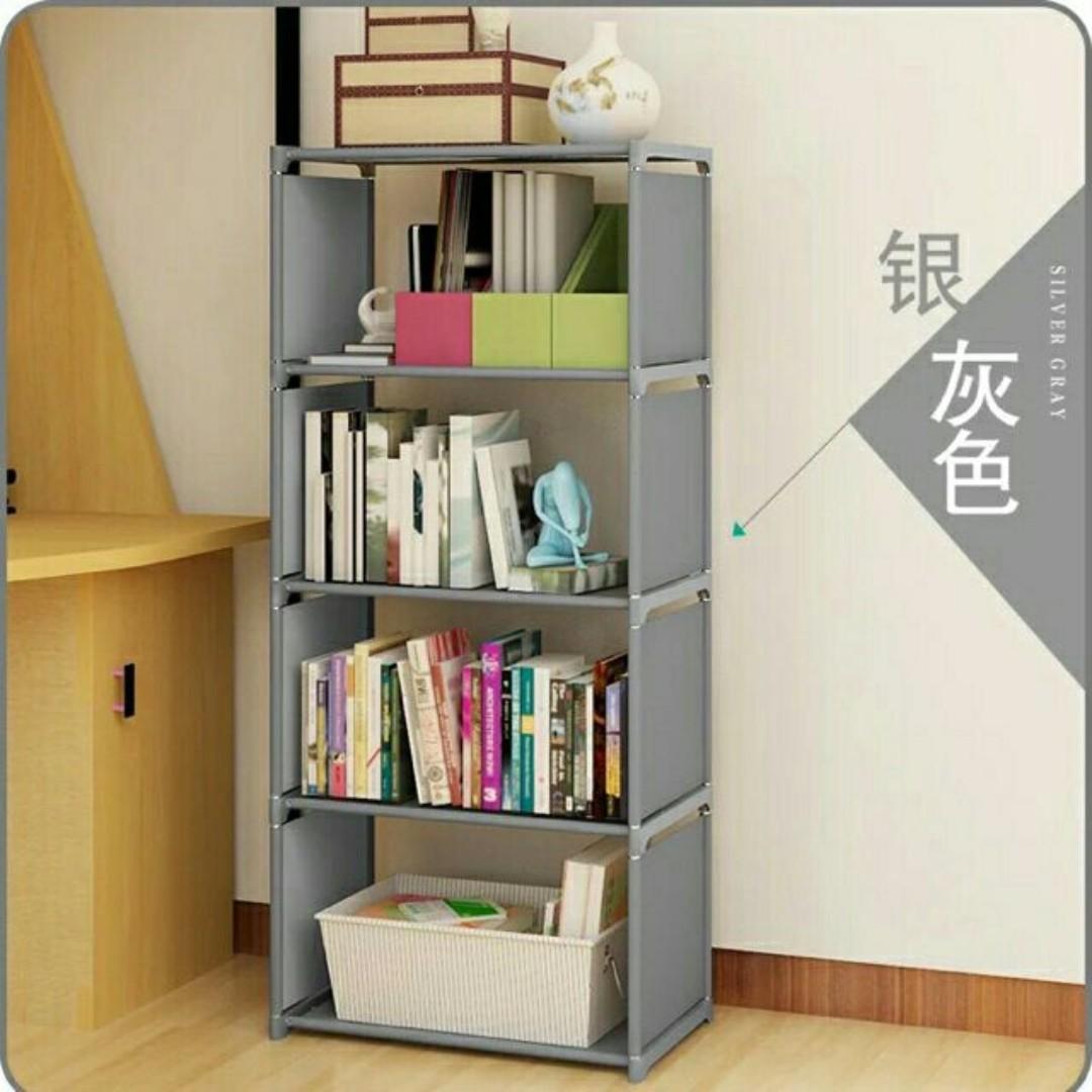 book shelf organizer grey