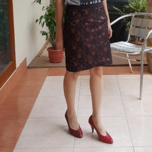 Bronze Brocade Skirt