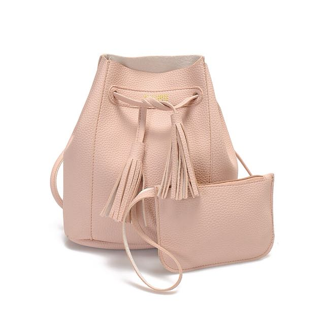 Bucket Bag in Pastel Dusty Pink