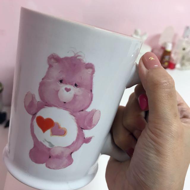 Care Bears 彩虹熊熊🐻全新粉色馬克杯 大容量