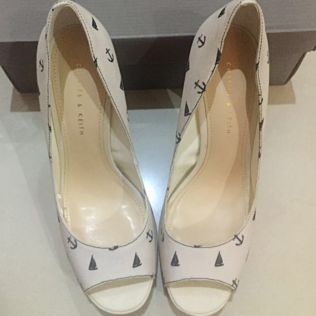 Charles & Keith White Sailor Heels